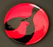 "CR 4 - Art Deco Bird Plate – 0.75"" H x 6.5"" W | $60 US"