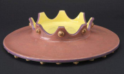 """CR 6 - I Love India Platter with 24K Gold – 4"""" H x 17.25"""" W 
