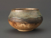 """CR 12 - Pit Fired Pot - 3.25"""" H x 5"""" W 