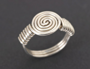 J&H 10 – Argentium Silver Ring – Size 10.5 | SOLD