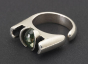 J&H 11 – Sterling Silver with Peridot Stone – Size 10 | SOLD