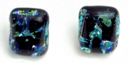 "J&H 7 – Dichroic Glass Earring Set – 7/8th"" H x 5/8th"" W 