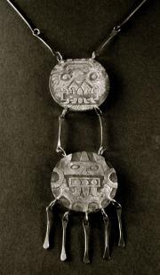 "J&H 9 – Sterling Silver Aztec Pendant – 4.5"" H x 2"" W | SOLD"
