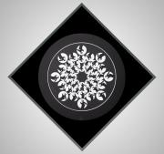 "21 - Moon Eagle Mandala - Original Mixed Media. 42"" H x 42"" W | $975 US"