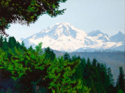 """1 - Mt. Baker from Cooper's Farm - Framed 18"""" H x 22"""" W 