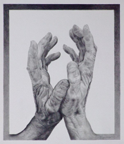 """10 - Wonderfully Made Hands - Graphite Drawing: 12"""" H x 10.25"""" W 
