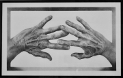 """12 - Wonderfully Made Fingers - Graphite Drawing: 10"""" H x 16.25"""" W 