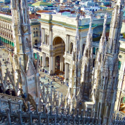 1 - 14    From the Roof of The Duomo, Milan, Italy