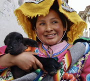 1 - 21    Ausangate Girl with Pet Lamb