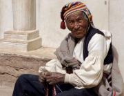 1 - 27    Intika Man Knitting Hat, Taquile Island, Lake Titicaca