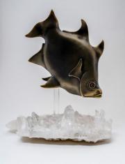 "11 - Enoplosus Armatus - Overall Sculpture Height 8"", Fish Length 6.75"", Base Measurement 7.5"" W x 4.5"" D | $675 US"