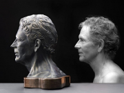 """3 - Self Portrait Bust - 14"""" H x 15"""" W x 10"""" D 