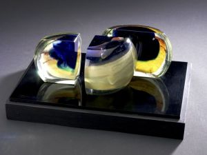 Cast, Cut and Polished Glass Sculpture