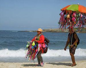 12 - Vendors Peddling Thong Bikini, Copacabana Beach