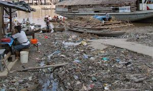 17 - Restaurant Located In Garbage Along Itaya River, Iquitos, Peru