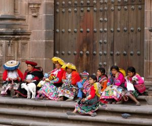 22 - Cuncani-Quechua On Cusco Church Steps