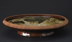 Platter With Abstract - Stoneware