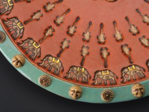 I Love India Platter - Low Fire Ceramic With 22 Karat Gold