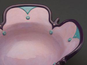 Art Deco Bowl - Low Fire Ceramic