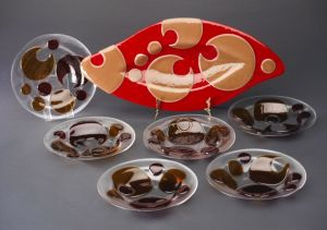 Platter and Bowl Set - Fused and Slumped Glass