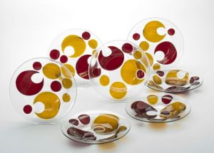 Set of Ten Bowls - Fused and Slumped Glass